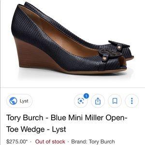 NEW Tory Burch black Mini Mellissa Wedge size 6.5